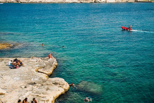 Swimming in Valletta Harbour-min