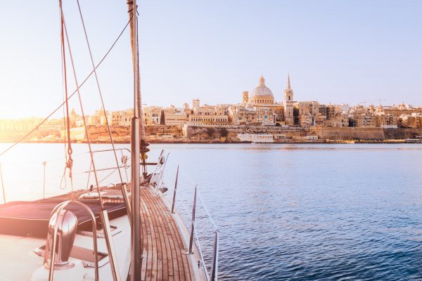 View of Valletta from Yacht in Grand Harbour-min